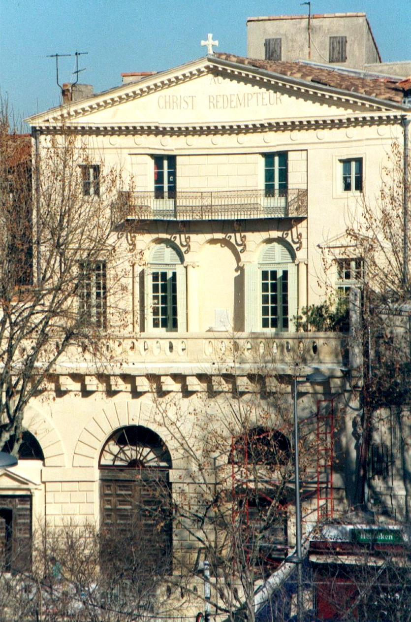 Façade du temple d'Arles